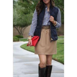 J. CREW Wool Blend Elastic Tan Sidewalk Skirt